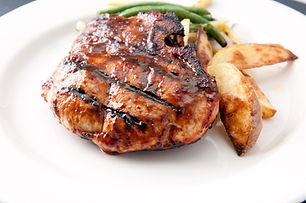 grilled pork chops with smokey barbeque