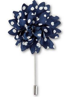 Floral Polka Dot Lapel Pins