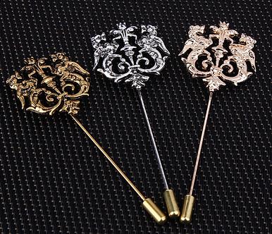 Classic Hollow Double Lion Lapel Pins