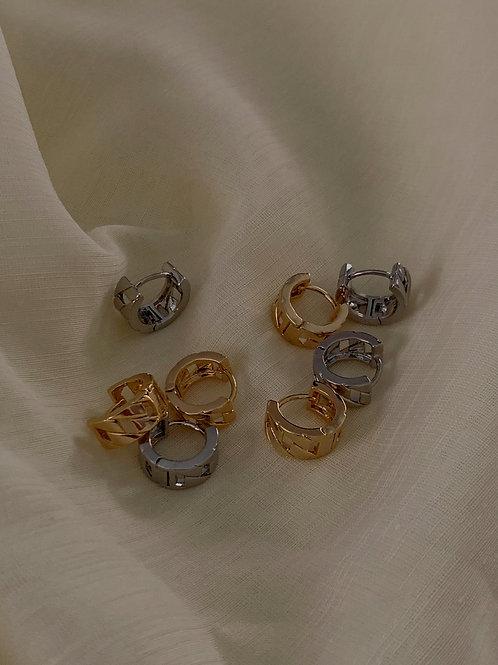 Cuban chain earring