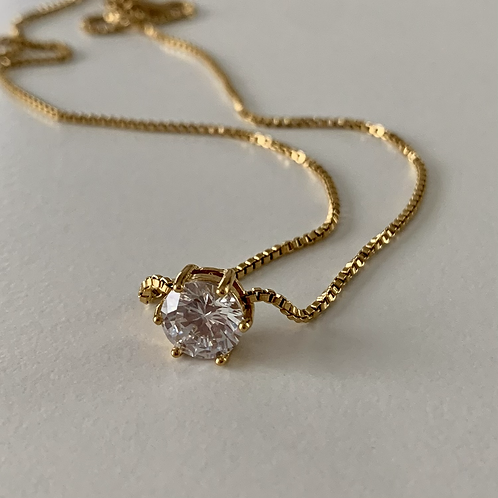 Statement diamond pendant