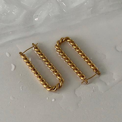 Geometric  rope earring