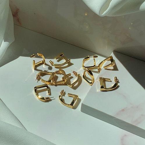 Minimal Geometric Stud Earrings