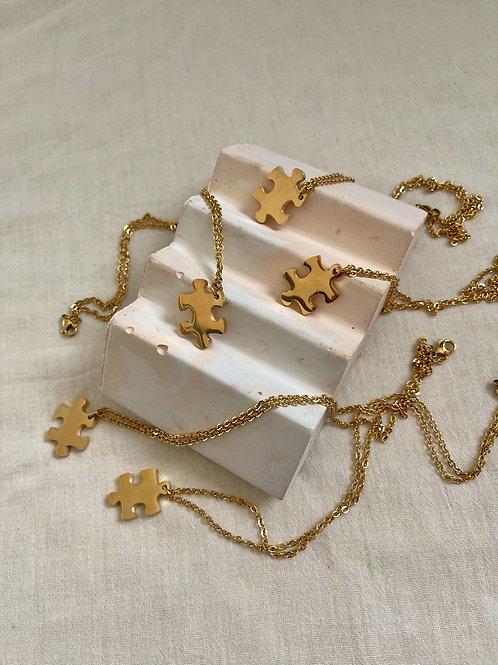 Jigsaw Pendant Necklace