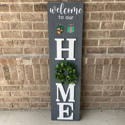 4 feet Welcome Sign