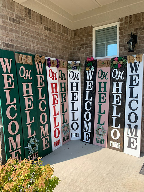 6FT Welcome Sign