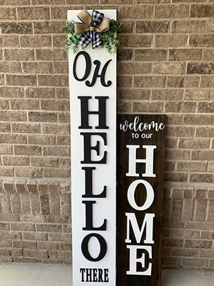 4FT Welcome Sign