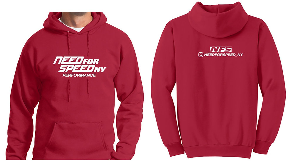 Red Need For Speed Ny Hoodie