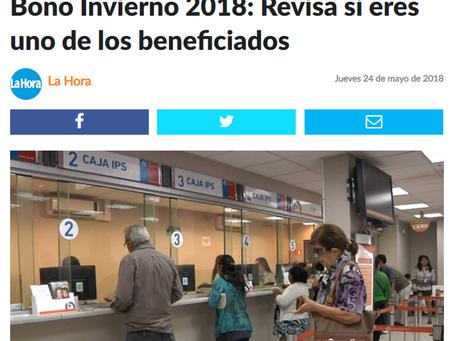 NOTICIA - BONO INVIERNO 2018: REVISA SI ERES UNO DE LOS BENEFICIADOS