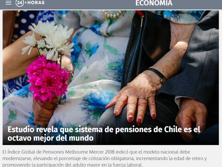 NOTICIA - El Índice Global de Pensiones Melbourne Mercer 2018 situó al sistema de pensiones de Chile