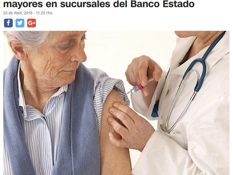 MINSAL VACUNARÁ CONTRA LA INFLUENZA A ADULTOS MAYORES EN SUCURSALES DEL BANCO ESTADO