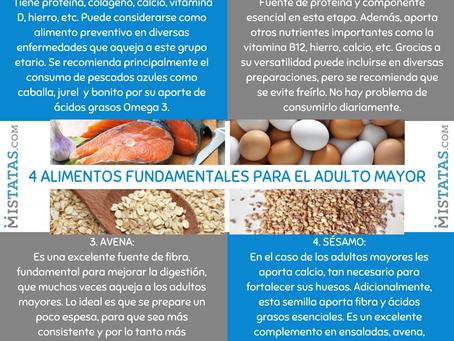4 ALIMENTOS FUNDAMENTALES PARA EL ADULTO MAYOR