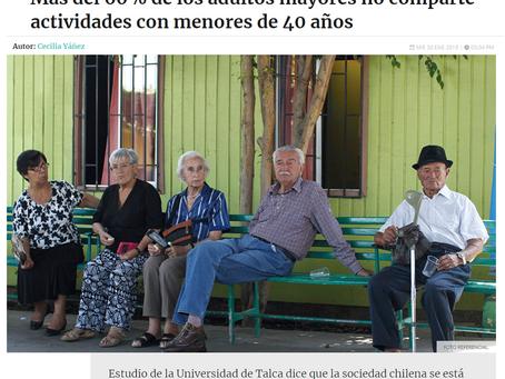 MÁS DEL 60% DE LOS ADULTOS MAYORES NO COMPARTEN ACTIVIDADES CON MENORES DE 40 AÑOS