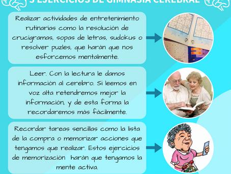 3 EJERCICIOS DE GIMNASIA CEREBRAL