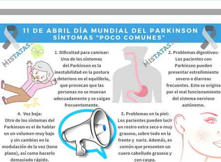 """11 DE ABRIL DÍA MUNDIAL DEL PARKINSON- SÍNTOMAS """"POCO COMUNES""""."""