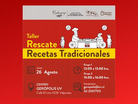 Difusión: TALLER RESCATE DE RECETAS TRADICIONALES.