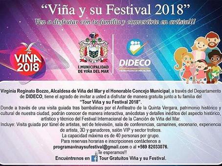 TOUR VIÑA Y SU FESTIVAL 2018