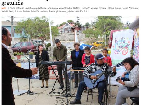 NOTICIA - MUNICIPIO DE CARTAGENA COMENZARÁ CON TALLERES DE CULTURA GRATUITOS