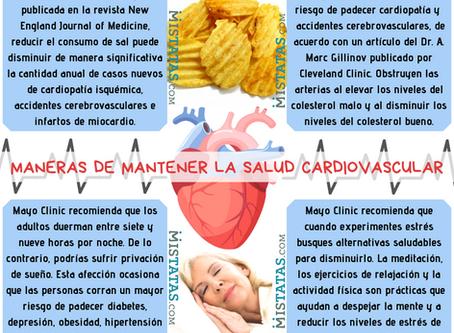 MANERAS DE MANTENER LA SALUD CARDIOVASCULAR