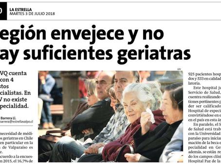 NOTICIA - REGIÓN ENVEJECE Y NO HAY SUFICIENTES GERIATRAS