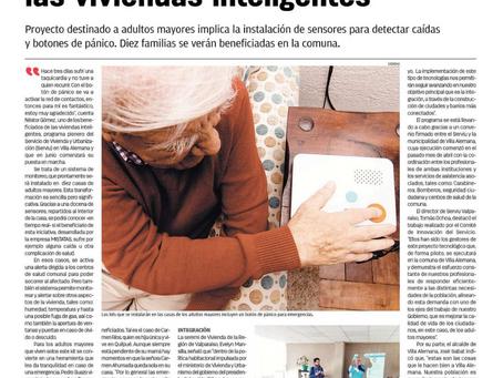 Noticia: Viviendas inteligentes con sistema de acompañamiento a personas mayores.