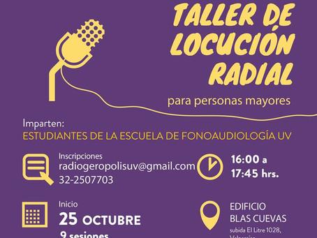 25 DE OCTUBRE - TALLER DE LOCUCIÓN RADIAL PARA PERSONAS MAYORES