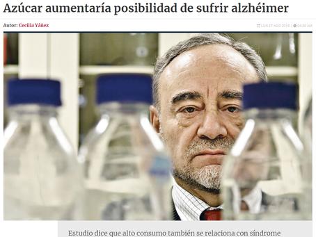 NOTICIA - AZÚCAR AUMENTARÍA POSIBILIDAD DE SUFRIR ALZHÉIMER