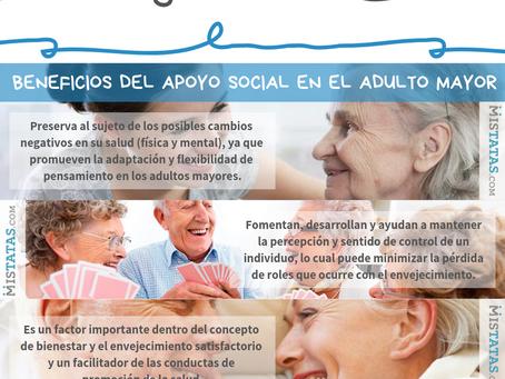BENEFICIOS DEL APOYO SOCIAL EN EL ADULTO MAYOR