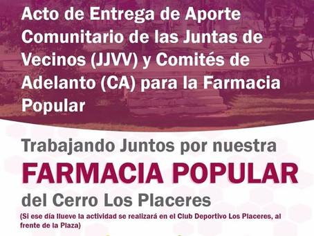 ACTO DE ENTREGA DE APORTES COMUNITARIOS - FARMACIA POPULAR