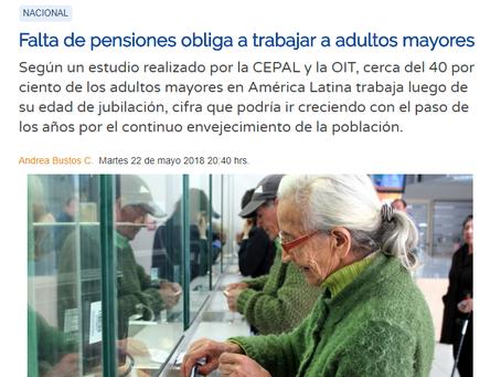 NOTICIA - FALTA DE PENSIONES OBLIGA A TRABAJAR A ADULTOS MAYORES