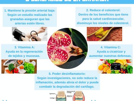 5 BENEFICIOS DE LA GRANADA