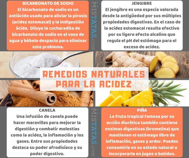 Remedios caseros para la acidez y los gases