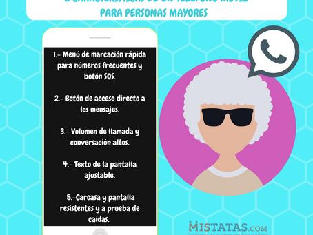 5 CARACTERÍSTICAS DE UN TELÉFONO MÓVIL PARA PERSONAS MAYORES.