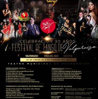 30 y 31 de Enero - Campeonato Continental de Intermilongas, celebración 30 años 1° Festival de Tango