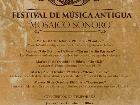 16 DE OCTUBRE - FESTIVAL DE MÚSICA ANTIGUA ''MOSAICO SONORO''