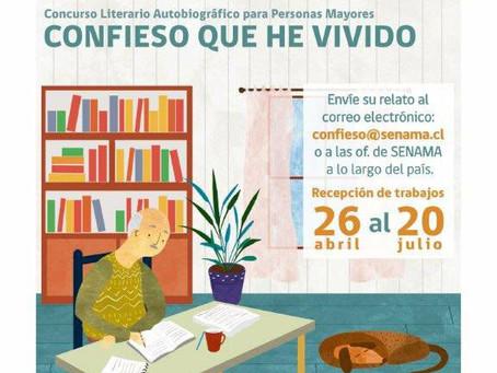 CONCURSO LITERARIO AUTOBIOGRÁFICO PARA PERSONAS MAYORES - CONFIESO QUE HE VIVIDO