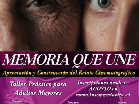 TALLER GRATUITO - APRECIACIÓN Y CONSTRUCCIÓN DEL RELATO CINEMATOGRÁFICO