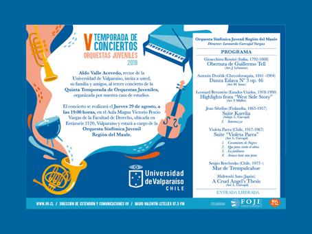 Difusión: Tercer concierto de la Quinta Temporada de Orquestas Juveniles.