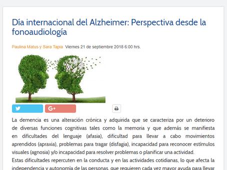 NOTICIA - DÍA INTERNACIONAL DEL ALZHEIMER: PERSPECTIVA DESDE LA FONOAUDIOLOGÍA