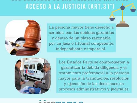 LOS DERECHOS DE LAS PERSONAS MAYORES - ACCESO A LA JUSTICIA (ART.31°)