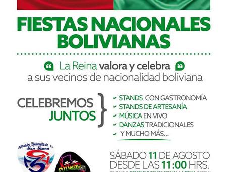 11 DE AGOSTO - LA REINA INVITA A LA CELEBRACIÓN DE LAS FIESTAS NACIONALES BOLIVIANAS