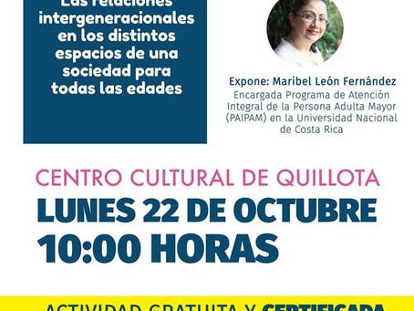 22 DE OCTUBRE - FORO INTERNACIONAL ''Las relaciones intergeneracionales en los distintos esp
