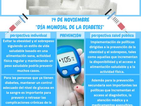 14 DE NOVIEMBRE  ''DÍA MUNDIAL DE LA DIABETES''