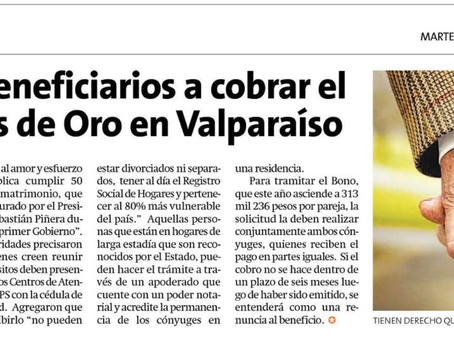 NOTICIA - LLAMAN A BENEFICIARIOS A COBRAR EL BONO BODAS DE ORO EN VALPARAÍSO
