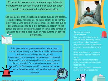 Salud: Cuidados en la piel de pacientes postrados.