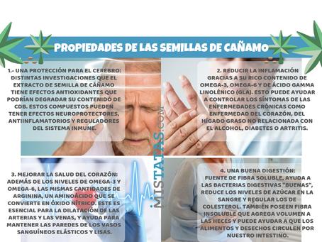PROPIEDADES DE LAS SEMILLAS DE CAÑAMO