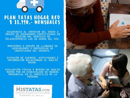 PLAN TATAS HOGAR RED: TELEASISTENCIA AL INTERIOR DEL HOGAR LAS 24 HORAS DEL DÍA.