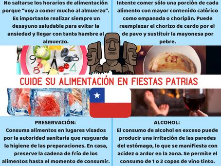 CUIDE SU ALIMENTACIÓN EN FIESTAS PATRIAS