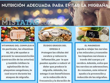 NUTRICIÓN ADECUADA PARA EVITAR LA MIGRAÑA