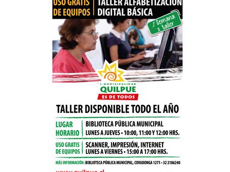 Actividades: Taller alfabetización digital